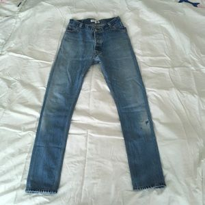 Shop re/Done straight skinny jeans 24